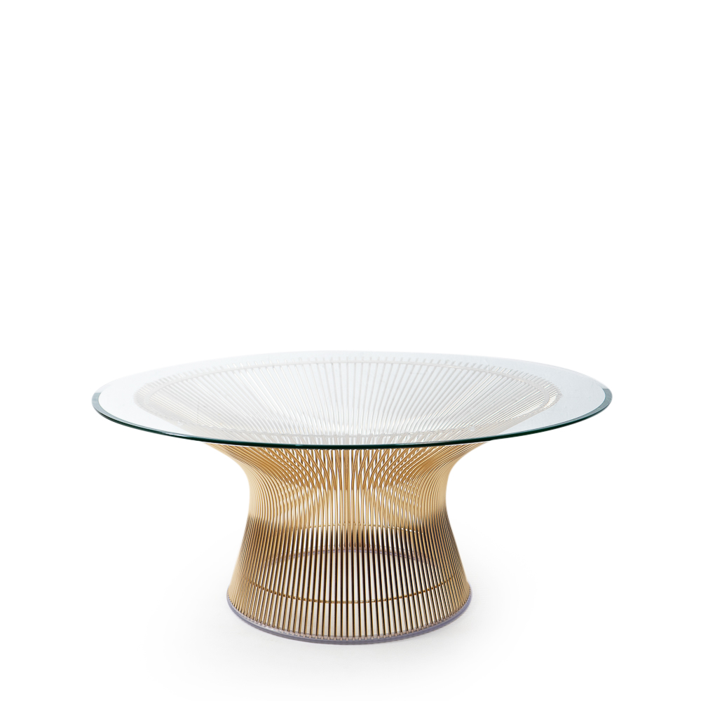 Authentic Knoll Platner Coffee table 18k Gold plated Switzerland