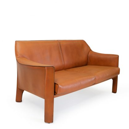Mario Bellini Lounge Set in Brown Leather for Cassina