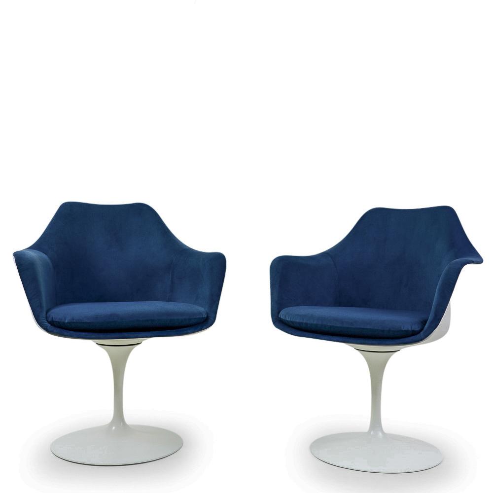 Knoll Saarinen Armchair blue upholstery vintage Switzerland Swiss