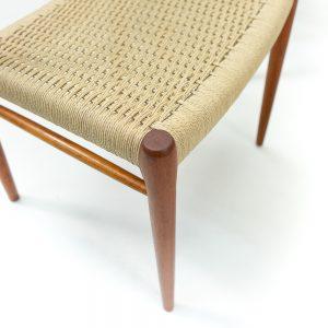 Vintage Niels Moller Chairs in new papercord weaving teak