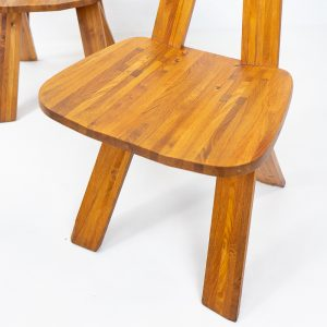 Authentic Original Pierre Chapo S45 elmwood chair in vintage condition