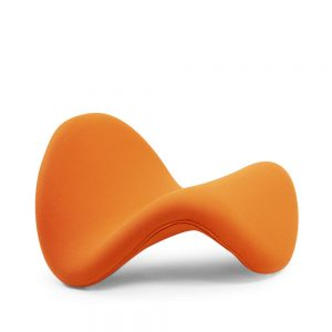 Pierre Paulin Tongue orange kvadrat wool vintage artifort