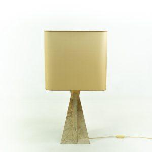 Vintage 1980s Travertine table lamp
