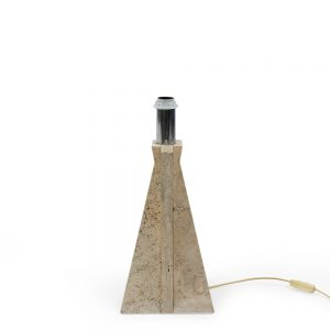 Vintage 1980s Travertine table lamp