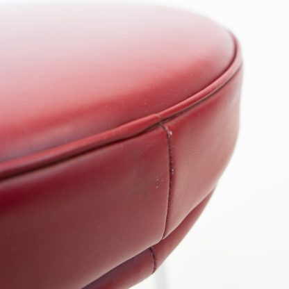 Charlotte Perriand, LC8, in vintage red bordeaux leather for sale price