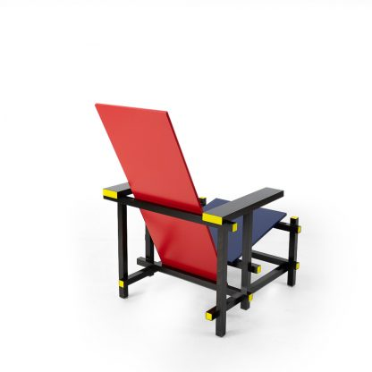 Vintage Gerrit Rietveld Cassina Red Blue chair for sale in Switzerland