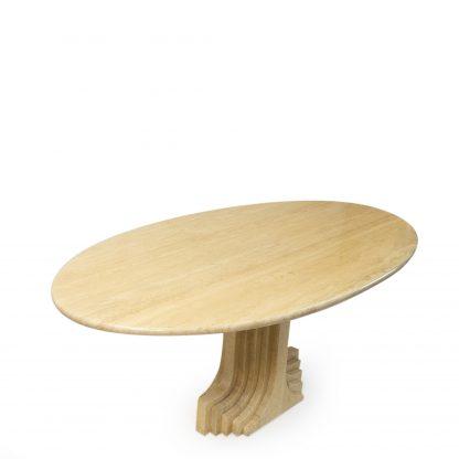 Carlo Scarpa travertine dining table