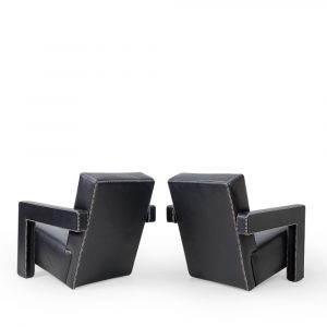 rietveld cassina lounge chairs utrecht in leather