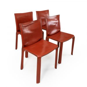 CAB 412 red leather for Cassina Mario Bellini