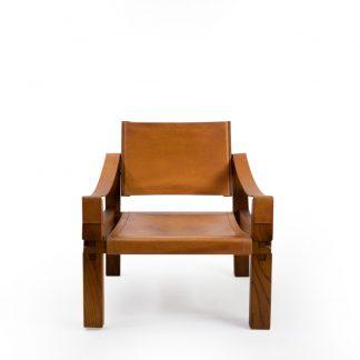 Pierre Chapo s10 lounge chair in elmwood