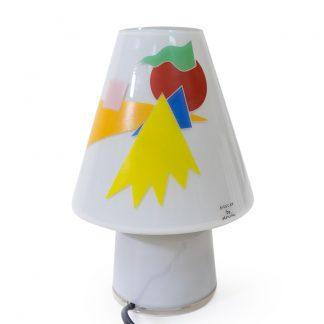 Mendini Sidecar glass table lamp