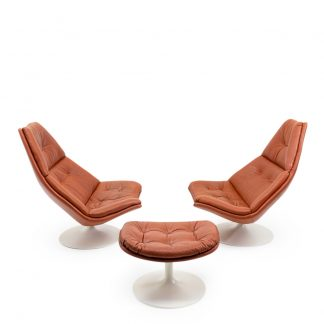 Artifort Harcourt Leather Lounge Chairs